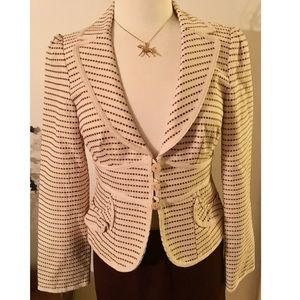 Nanette Lepore fitted structured blazer jacket 6